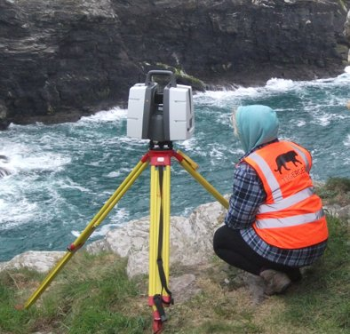Topographic survey using terrestial scanning